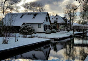 Winter in Giethoorn village