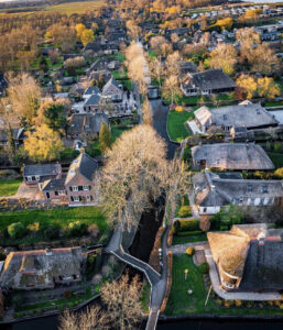 Giethoorn village from the air