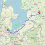 Amsterdam to GIethoorn route